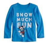 "Disney's Mickey Mouse Toddler Boy ""Snow Much Fun"" Softest Graphic Tee by Jumping Beans®"