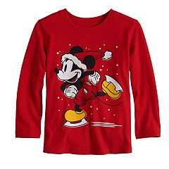 Disney's Mickey Mouse Toddler Boy Ice Skating Softest Graphic Tee by Jumping Beans®