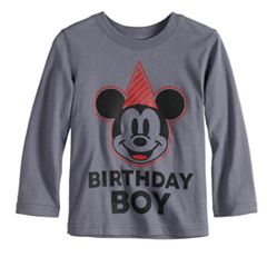 Disney's Mickey Mouse Baby Boy 'Birthday Boy' Softest Graphic Tee by Jumping Beans®