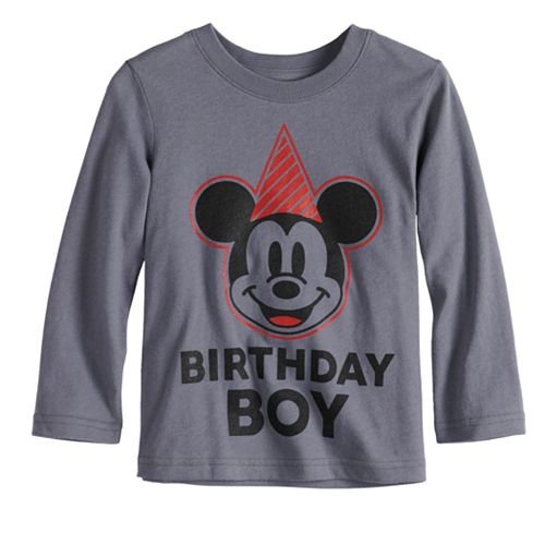 "Disney's Mickey Mouse Baby Boy ""Birthday Boy"" Softest Graphic Tee by Jumping Beans®"