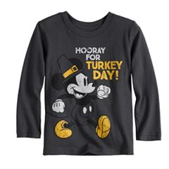 Disney's Mickey Mouse Baby Boy 'Hooray For Turkey Day!' Softest Graphic Tee by Jumping Beans®
