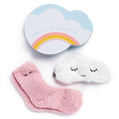 Cloud Tin Socks & Eye Mask Gift Set