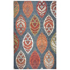 Rizzy Home Anastasia Resonant Collection Leaf Medallion Rug