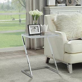 Carolina Living Aurora Z-Base White End Table
