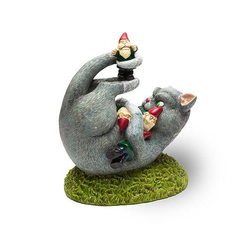 Big Mouth Inc. Cat Attack Gnome Statue