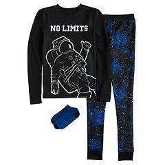 Boys 4-10 Cuddl Duds Astronaut 2-Piece Pajamas & Socks