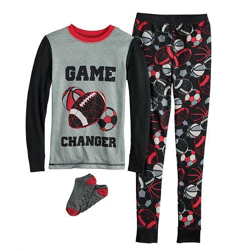 Boys 4-10 Cuddl Duds 2-Piece Pajamas & Socks