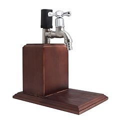 Hammer and Axe Wooden Liquor Dispenser