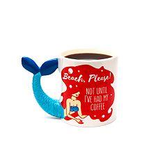 BigMouth Inc. 'Beach, Please!' Mermaid Mug