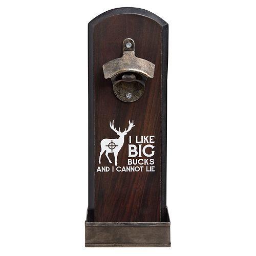 "Hammer and Axe ""Bucks"" Bottle Opener Wall Decor"
