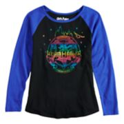 Girls 7-16 Harry Potter Hogwarts Crest Raglan Tee