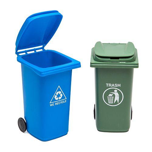 BigMouth Inc. Mini Trash Bin Desk Set