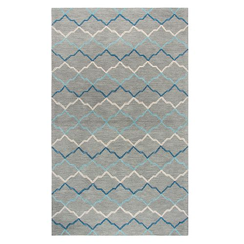 Rizzy Home Alana Resonant Collection Quatrefoil Geometric Rug