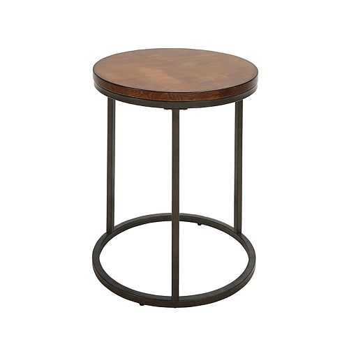 Carolina Forge Orson Round End Table