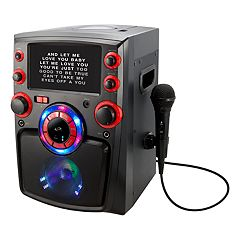 iLive Bluetooth Karaoke Party Machine with 7-in. LED display