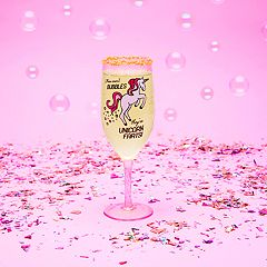 BigMouth Inc. Unicorn Farts Champagne Glass