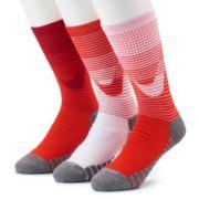 Men's Nike 3-pack Dry Training Cushioned Crew Socks