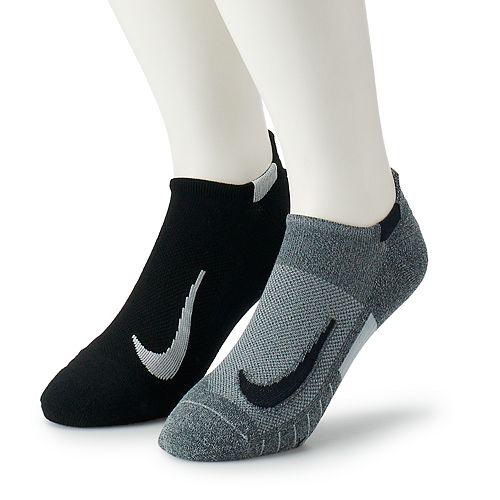 Men's Nike 2-pack Multiplier Running No-Show Socks