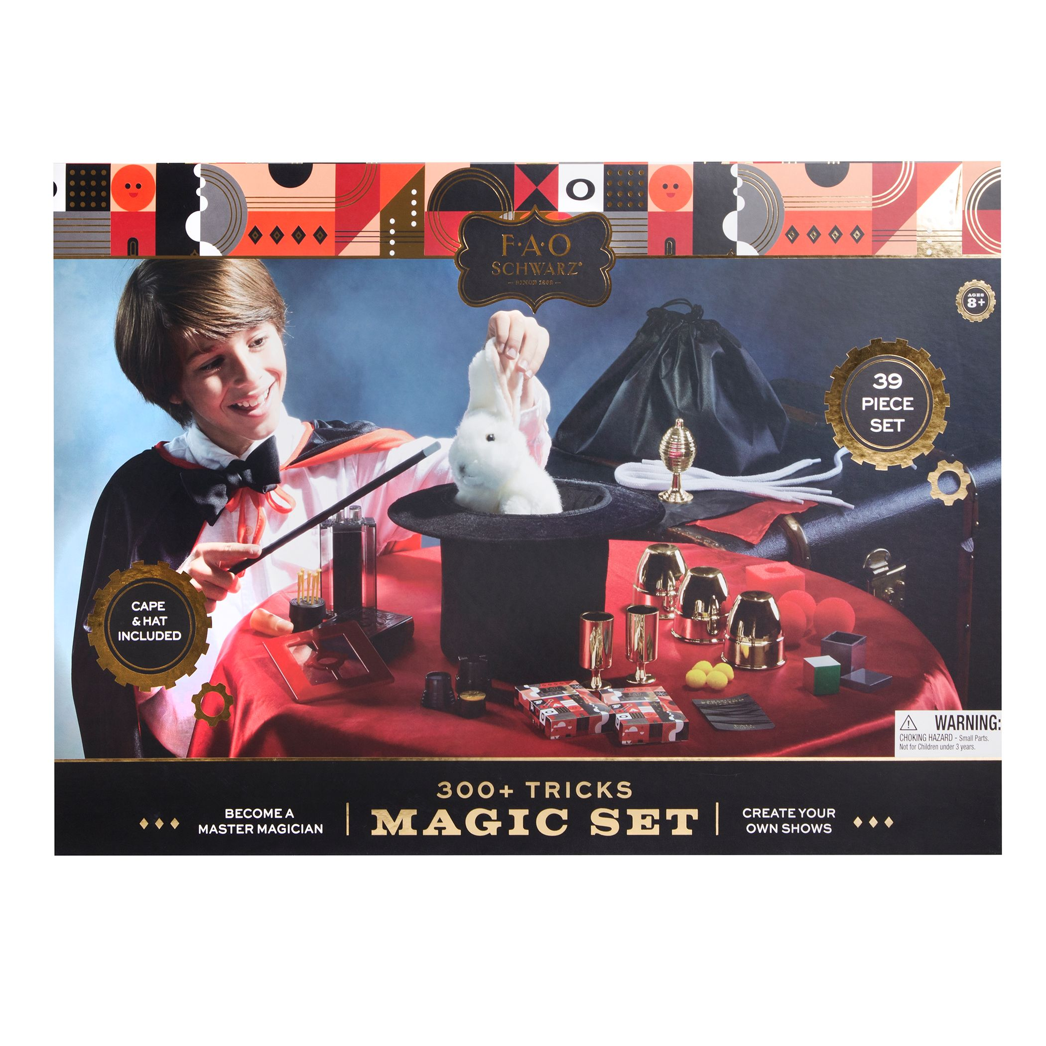 FAO Schwarz 39-piece Magic Set, Black