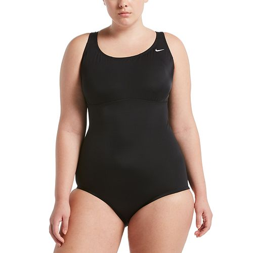 Plus Size Nike Epic Solid Racerback One-Piece Swimsuit