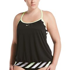 e7a2fbfbade68 Plus Size Nike Sport Stripe 2-in-1 Tankini Top