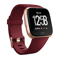 Fitbit Versa Smartwatch with Limited Edition Ruby Band + $45 Kohls Cash + Washcloth