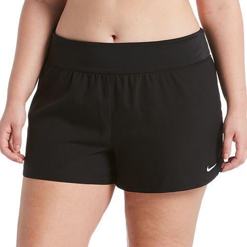 Plus Size Nike Solid Boardshort Swim Bottoms