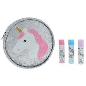 Girls Unicorn Lip Balm & Pouch Party Pack Set