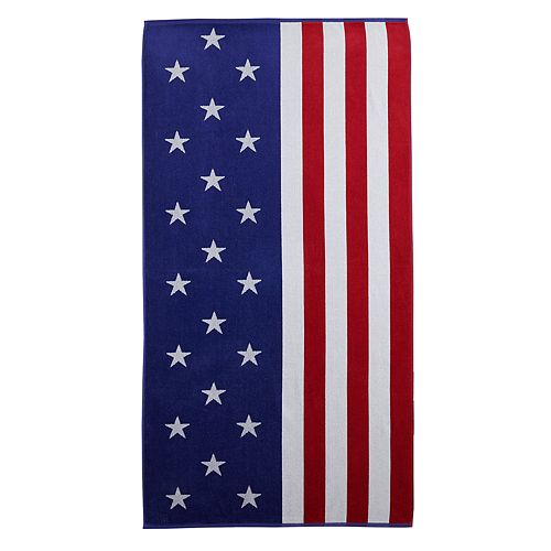 Celebrate Summer Together American Flag Turkish Cotton Beach Towel
