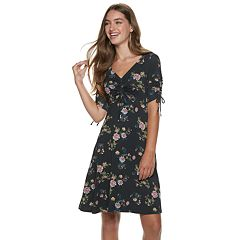 Juniors' Rewind Cinched Floral Midi Dress