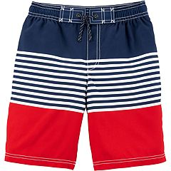 Boys 4-8 Carter's Striped Swim Trunks