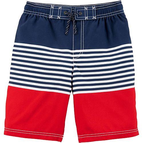 Boys 4-8 Carter's Striped Swim Trunks