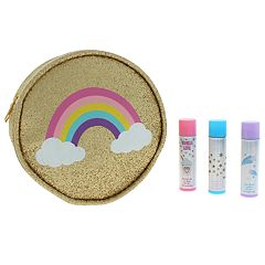 Girls Lip balm & Rainbow Pouch Party Pack