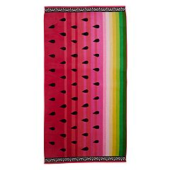 Celebrate Summer Together Watermelon Turkish Cotton Beach Towel