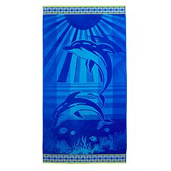 Celebrate Summer Together Dolphin Turkish Cotton Beach Towel