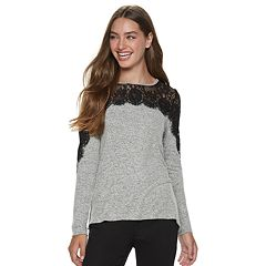 Juniors' Rewind Lace Hatchi Top