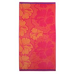 Celebrate Summer Together Hibiscus Turkish Cotton Beach Towel