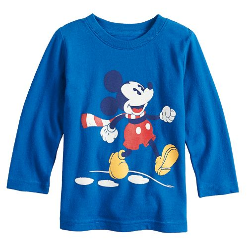 Disney's Mickey Mouse Baby Boy Skipping Softest Graphic Tee by Jumping Beans®