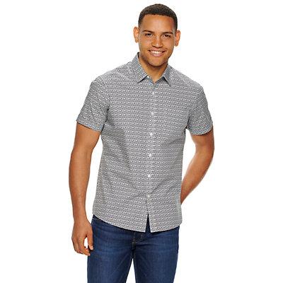 Men's Apt. 9® Crosshatch Button-Down Shirt