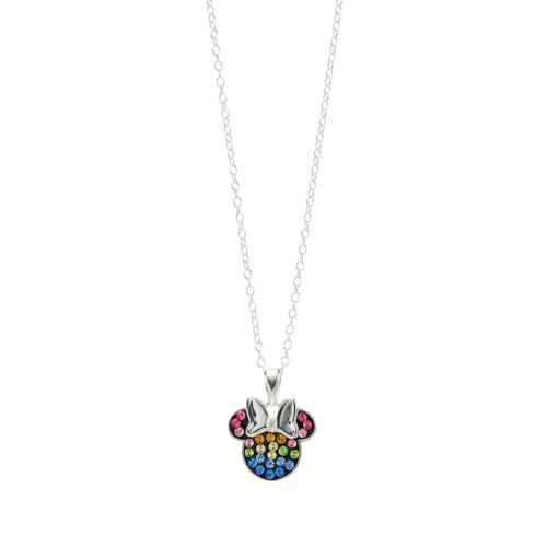 Disney Minnie Mouse Sterling Silver Rainbow Crystal Necklace by Kohl's