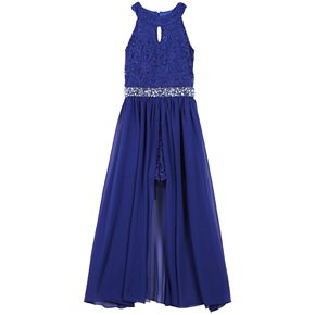 Girls 7-16 & Plus Size Speechless Sleeveless Walkthrough Maxi Dress