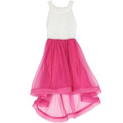 Girls 7-16 Speechless Lace to Tulle High Low Dress