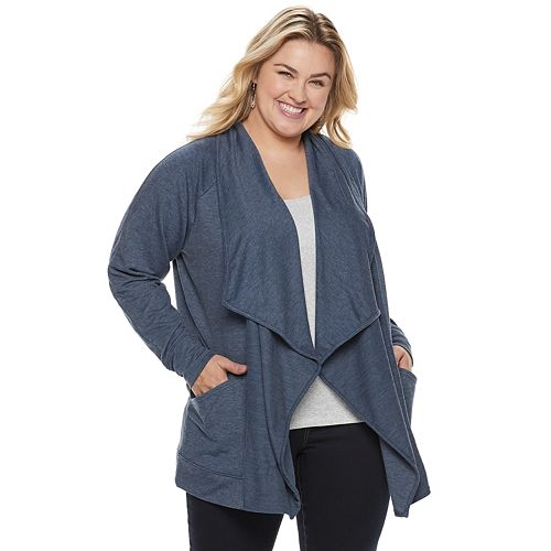 Plus Size SONOMA Goods for Life™ Supersoft Cascade Cardigan
