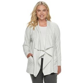 Plus Size SONOMA Goods for Life? Supersoft Cascade Cardigan
