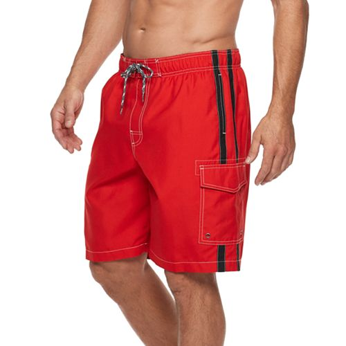 Men's Croft & Barrow Side-Striped Swim Trunks