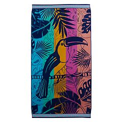 Celebrate Summer Together Toucan Turkish Cotton Beach Towel