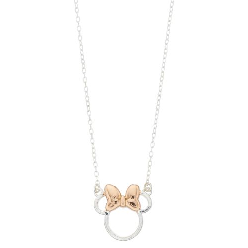 Disney Two Tone Sterling Silver Minnie Mouse Necklace by Kohl's
