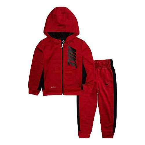 Toddler Boy Nike 2-Piece Colorblock Hoodie & Pants Set