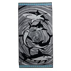 Celebrate Summer Together Shark Turkish Cotton Beach Towel