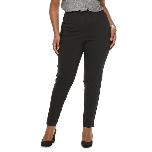 Plus Size Apt. 9® Brynn Midrise Pull-On Skinny Dress Pants